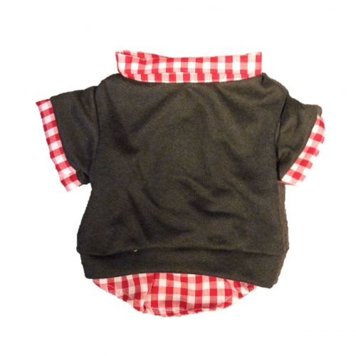 flannel fleece red red - back