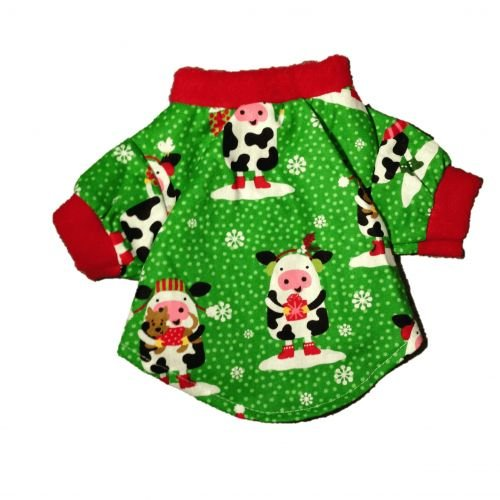 holiday cow red xs  -back