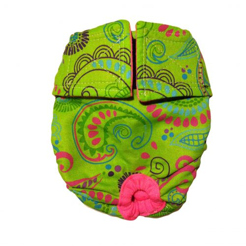 lime paisley diaper 1