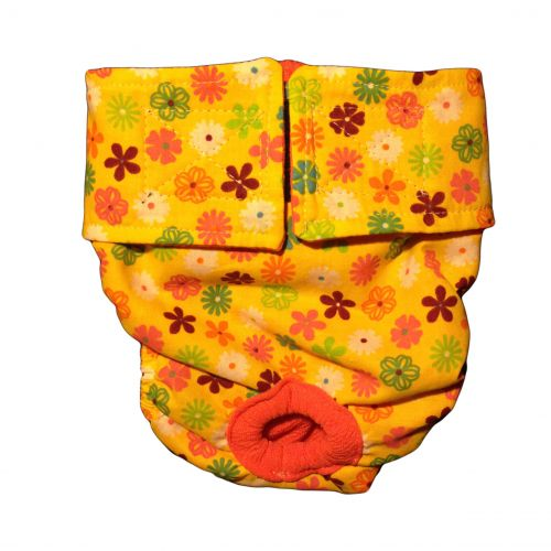 spring yellow blossom diaper
