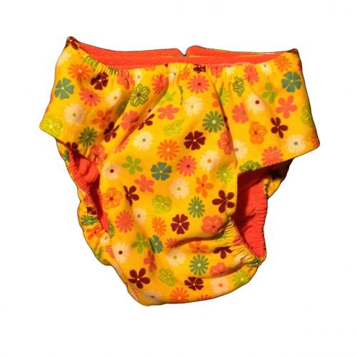 spring yellow blossom diaper - back