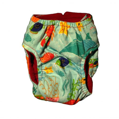 under the sea diaper - back