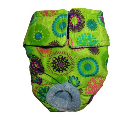 green kiwi flower diaper