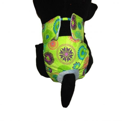 green kiwi flower diaper - model 2