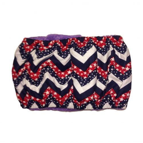 patriotic chevron belly band - back