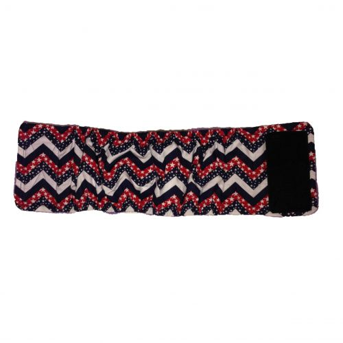 patriotic chevron belly band - full