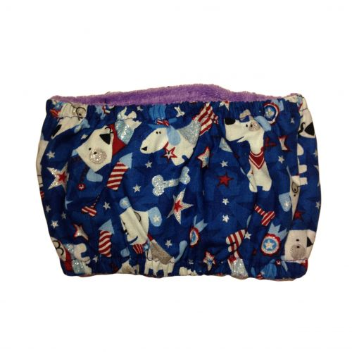 patriotic doggie with glitter belly band - back