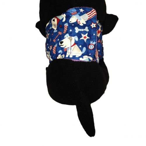 patriotic doggie with glitter belly band - model 2