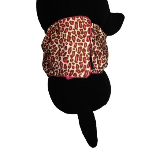 pink leopard pul belly band - model 2