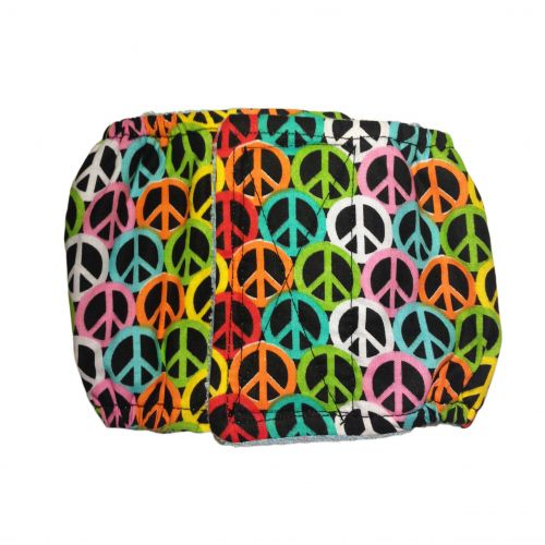 colorful peace belly band