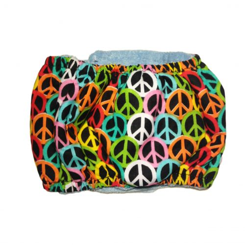 colorful peace belly band - back