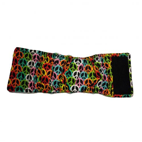 colorful peace belly band - full
