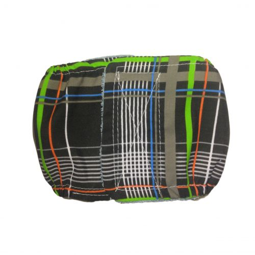 gray plaid belly band