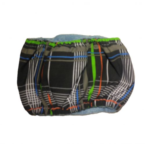 gray plaid belly band - back