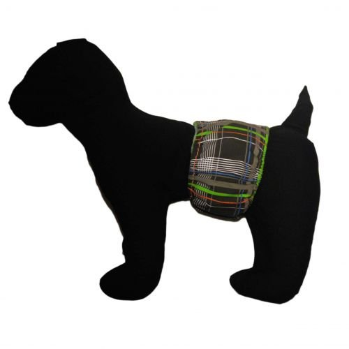 gray plaid belly band - model 1