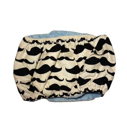 mustache belly band - back