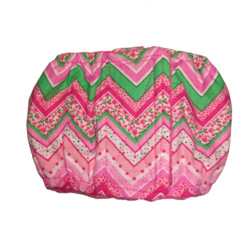 pink flower chevron belly band