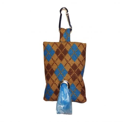 argyle poop bag dispenser - front