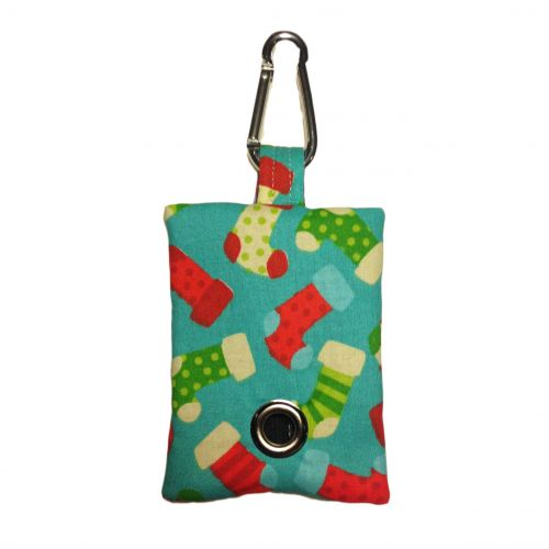 christmas stocking poop bag dispenser - front
