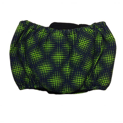 green double dots belly band - back