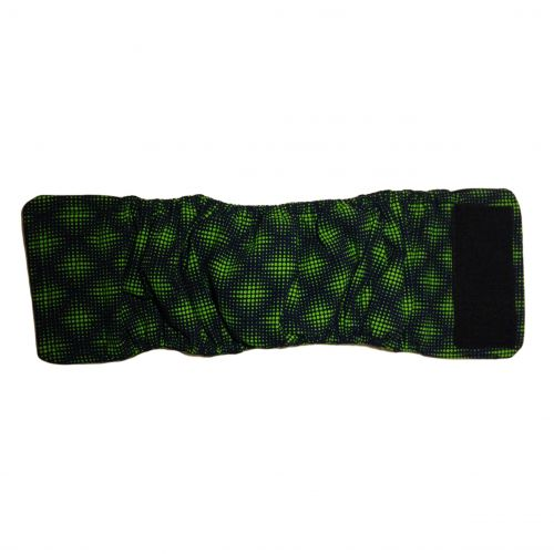 green double dots belly band - full