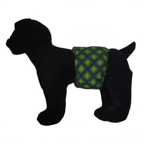 green double dots belly band - model 1