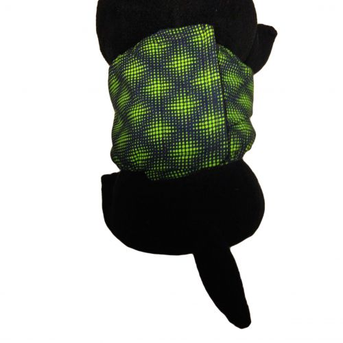green double dots belly band - model 2