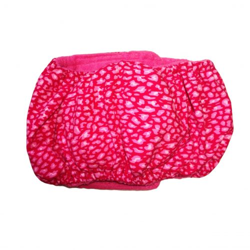 pink leopard belly band - back