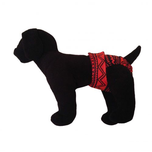 red and black southwest diaper - model 1