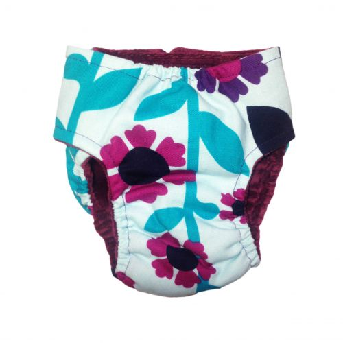 happiness flower diaper - back
