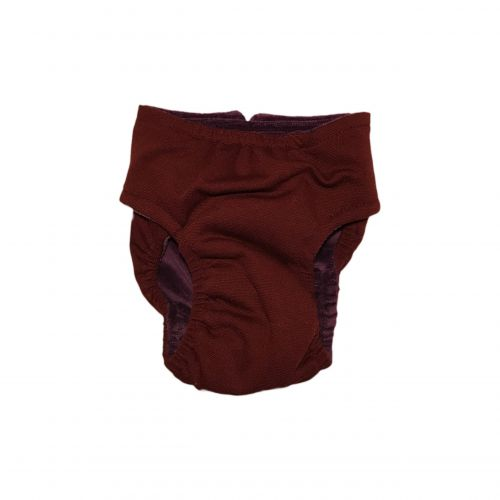 burgundy diaper - back