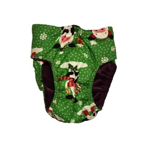 holiday cows diaper - back