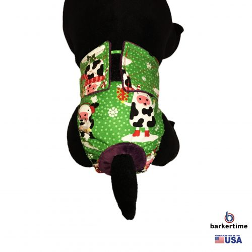 holiday cows diaper - model 2