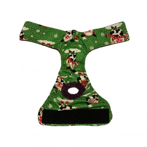 holiday cows diaper - open