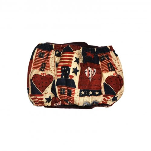 hearts and patriotic love belly band - back