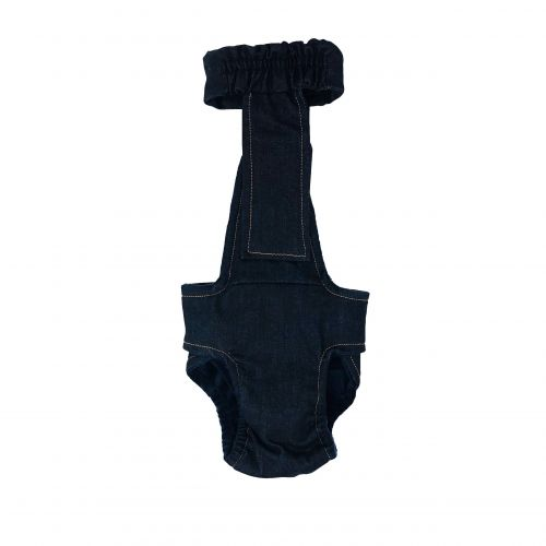 denim diaper overall - new - back