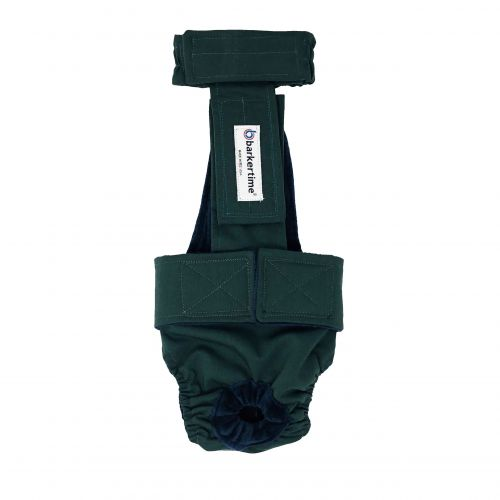 hunter green diaper overall
