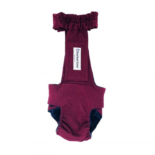 merlot red diaper overall - back