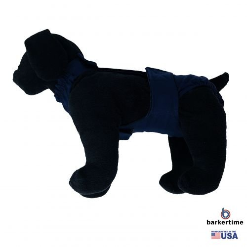 navy blue diaper overall - model 1