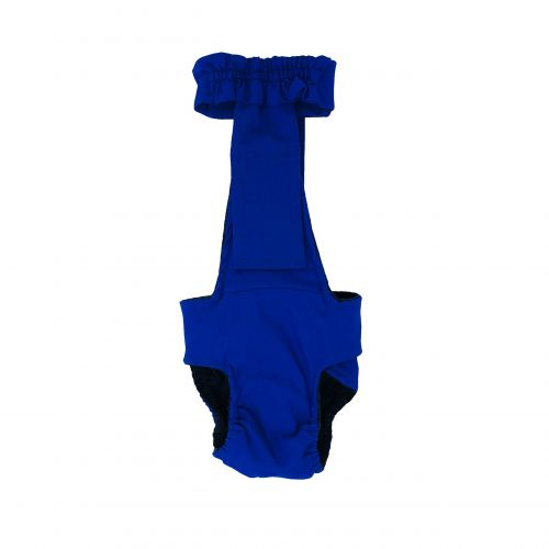 royal blue diaper overall - back