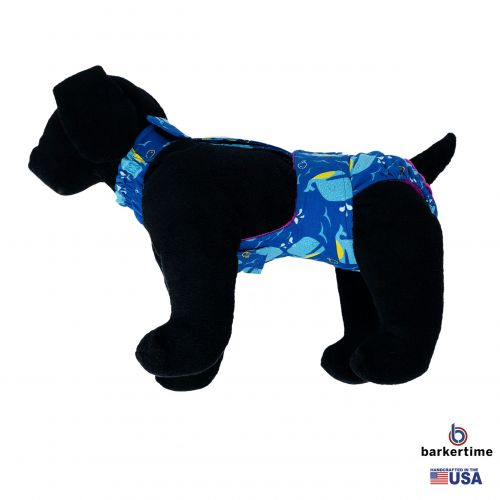 blue whale diaper overall - new - model 1