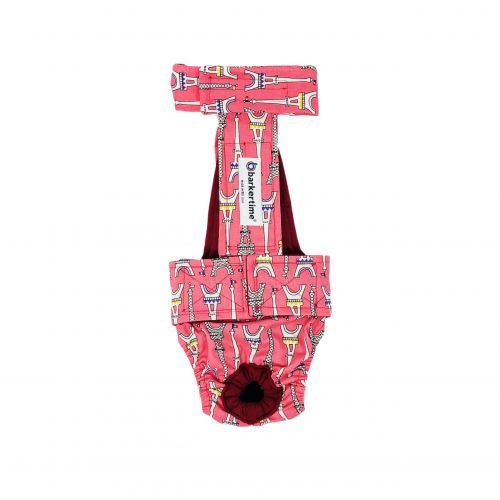 paris eiffel tower on pink diaper overall - new