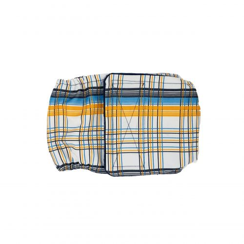 blue and yellow plaid belly band