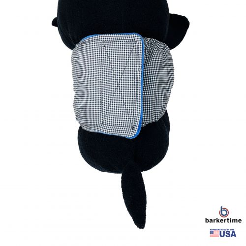 black and white gingham belly band - model 2