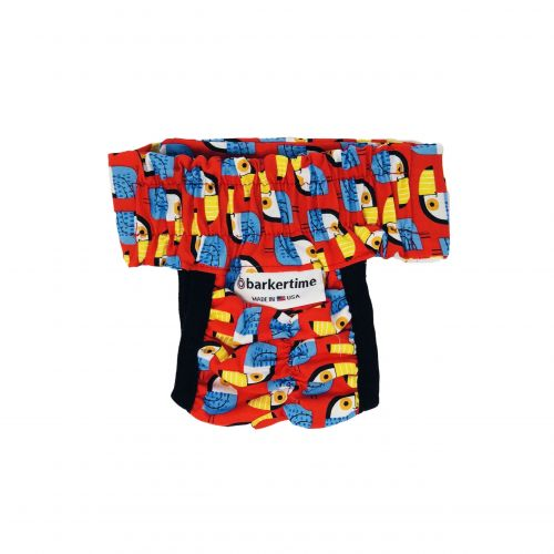 toucan on red diaper pull-up - new - back