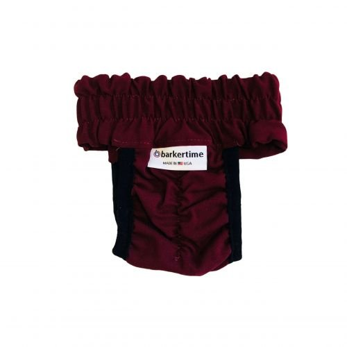 burgundy diaper pull-up - back