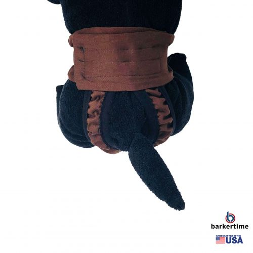 chocolate brown diaper pull-up - model 2
