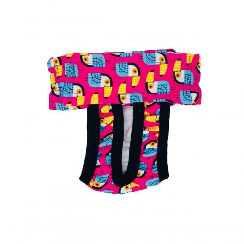 toucan on pink diaper pull-up