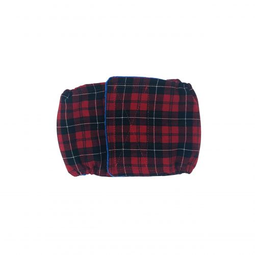 red plaid belly band