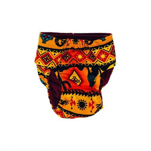 american southwest on yellow diaper - back